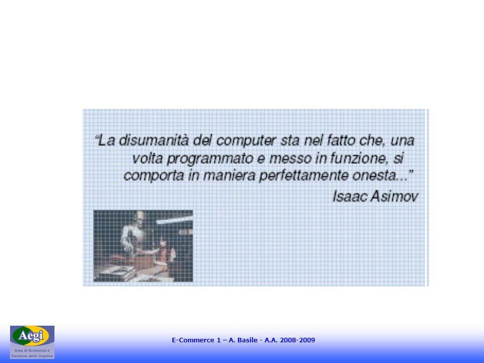 E-Commerce 1 – A. Basile - A.A. 2008-2009
