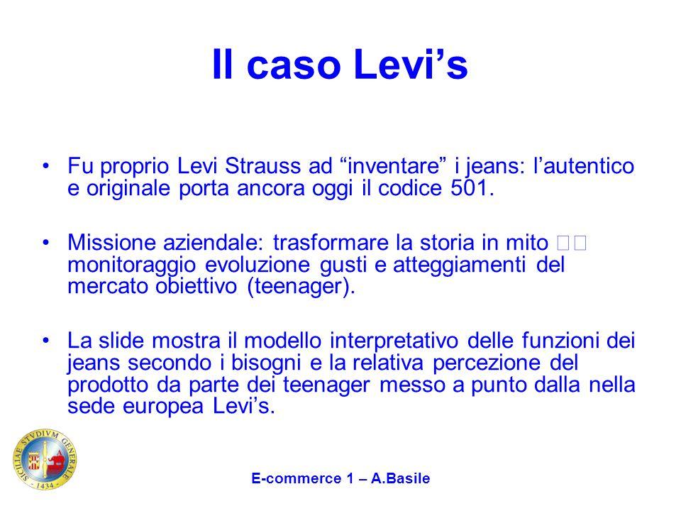 Il caso Levis Fu proprio Levi Strauss ad inventare i jeans: lautentico e originale porta ancora oggi il codice 501. Missione aziendale: trasformare la