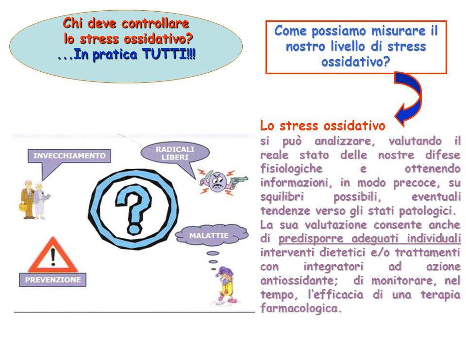 Chi deve controllare lo stress ossidativo? lo stress ossidativo?...In pratica TUTTI!!! Lo stress ossidativo si può analizzare, valutando il reale stat