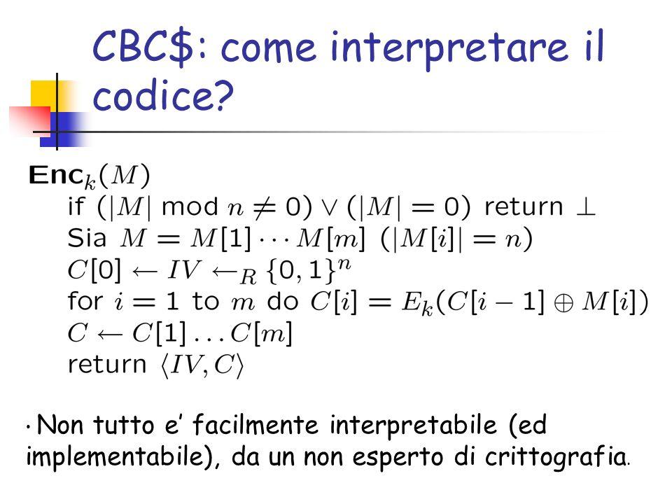 CBC$: come interpretare il codice.