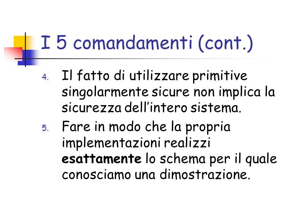 I 5 comandamenti (cont.) 4.