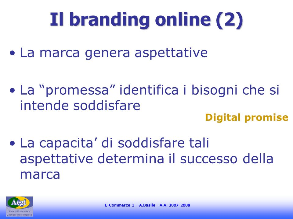 E-Commerce 1 – A.Basile - A.A.