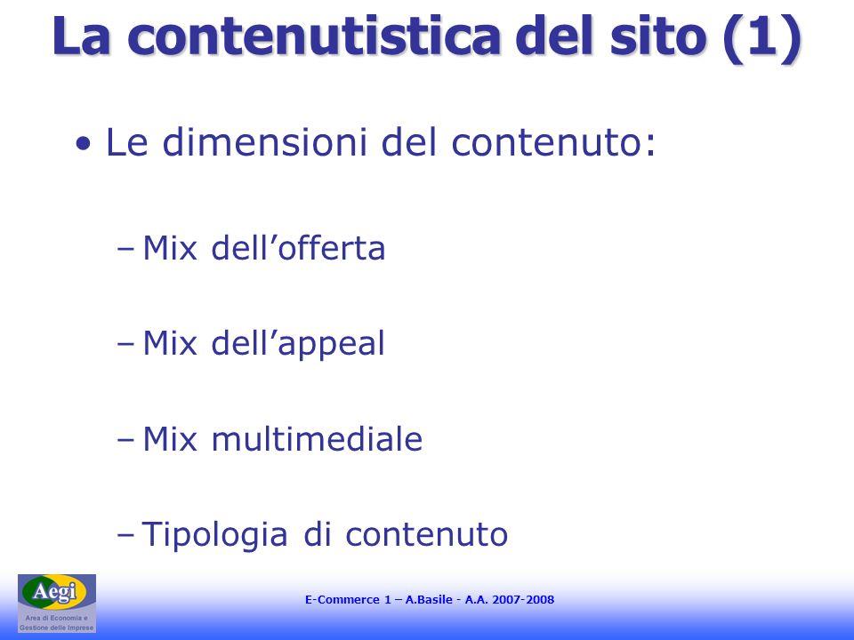 E-Commerce 1 – A.Basile - A.A.