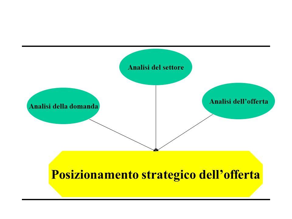 Analisi della domanda Analisi dellofferta Analisi del settore Posizionamento strategico dellofferta