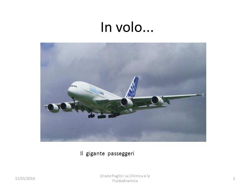 In volo... 11/01/20141 Orazio Puglisi: La Chimica e la Fluidodinamica Rapporto di planata ~ 19 / 25 Rapporto di planata ~ 30 / 70