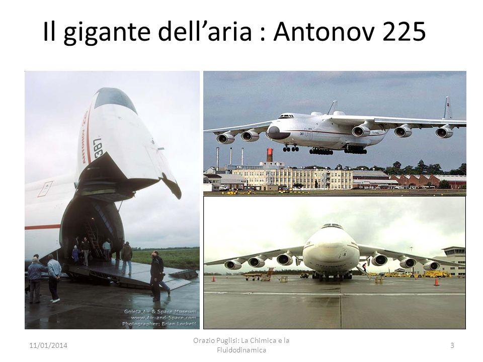 In volo... 11/01/20142 Orazio Puglisi: La Chimica e la Fluidodinamica Il gigante passeggeri