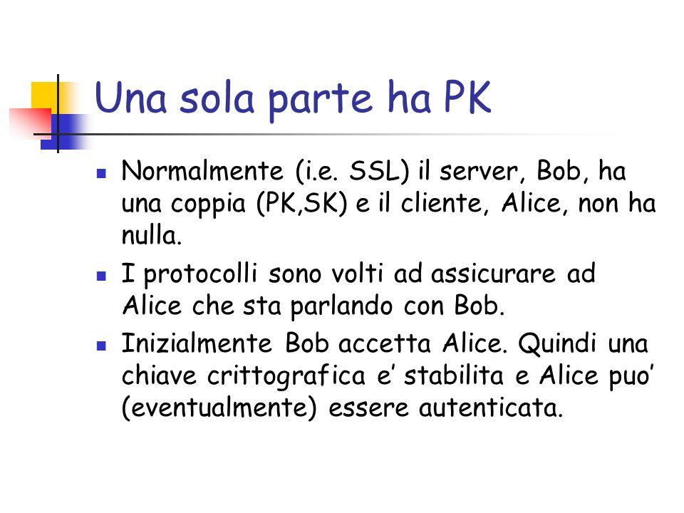 Una sola parte ha PK Normalmente (i.e.