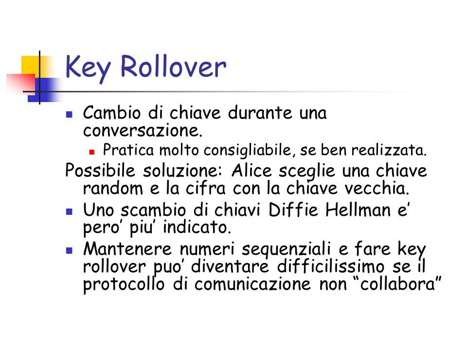 Key Rollover Cambio di chiave durante una conversazione.