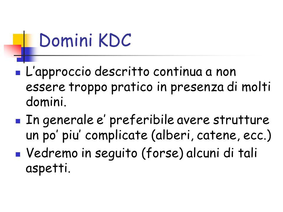 Domini KDC Lapproccio descritto continua a non essere troppo pratico in presenza di molti domini.
