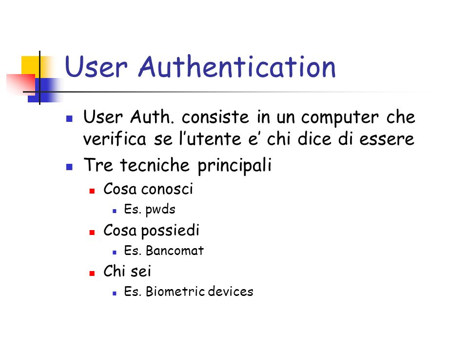 User Authentication User Auth.