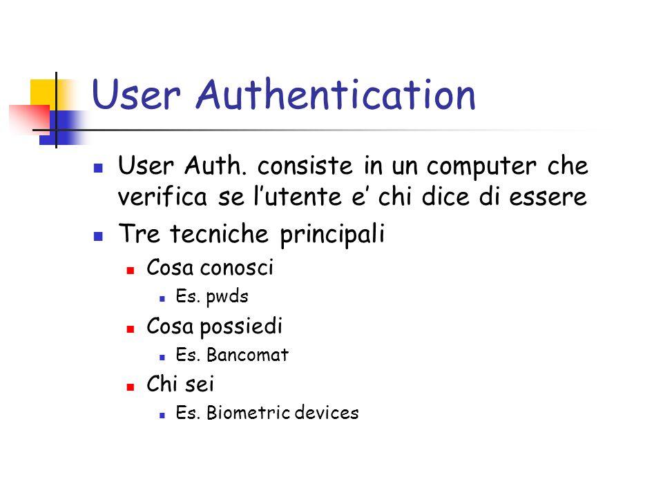 Biometric Devices Un altro problema di tale approccio e che i dati biometrici sono difficili da tenere segreti.