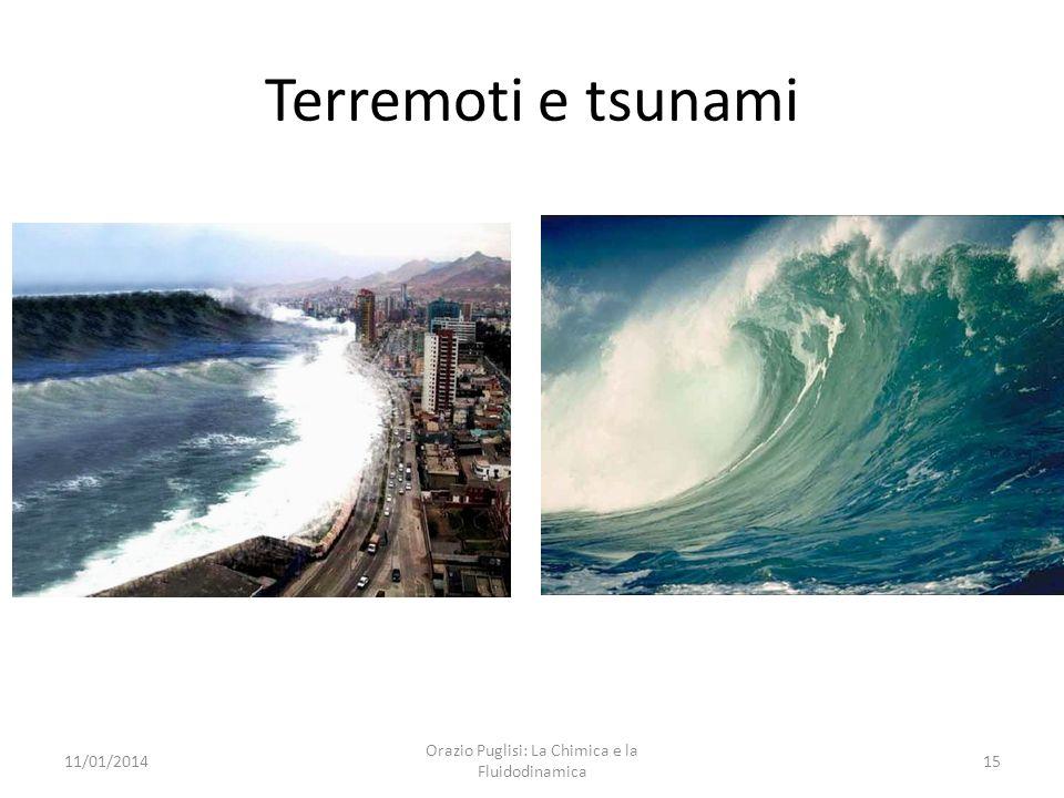 Terremoti e tsunami 11/01/201415 Orazio Puglisi: La Chimica e la Fluidodinamica