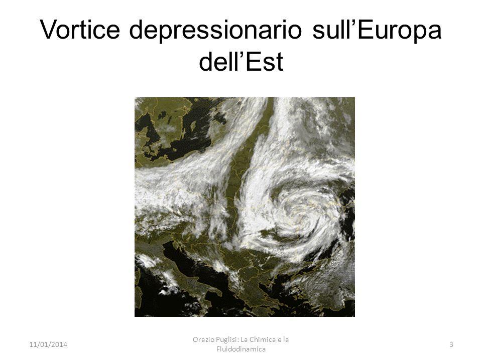 Vortice depressionario sullEuropa dellEst 11/01/20143 Orazio Puglisi: La Chimica e la Fluidodinamica
