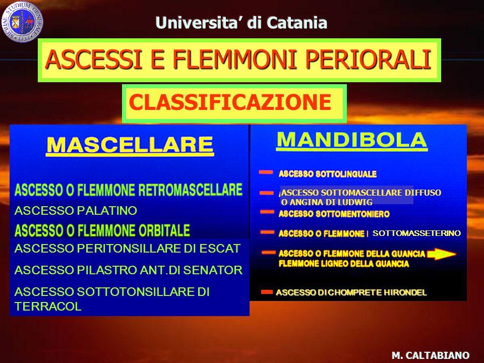 ASCESSI E FLEMMONI PERIORALI SINTOMATOLGIA