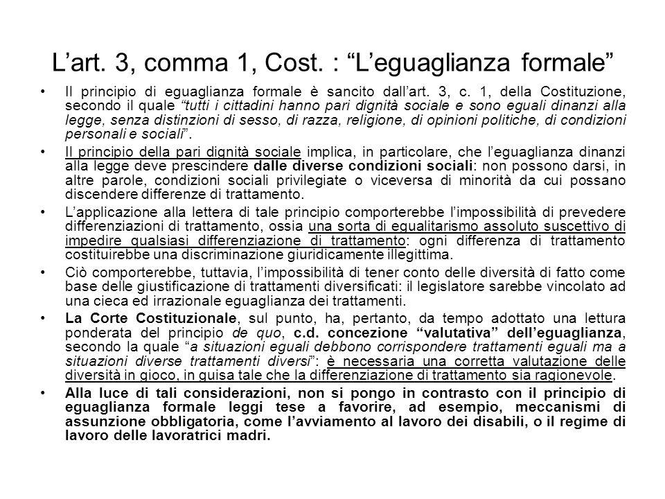 Lart.3, comma 1, Cost.