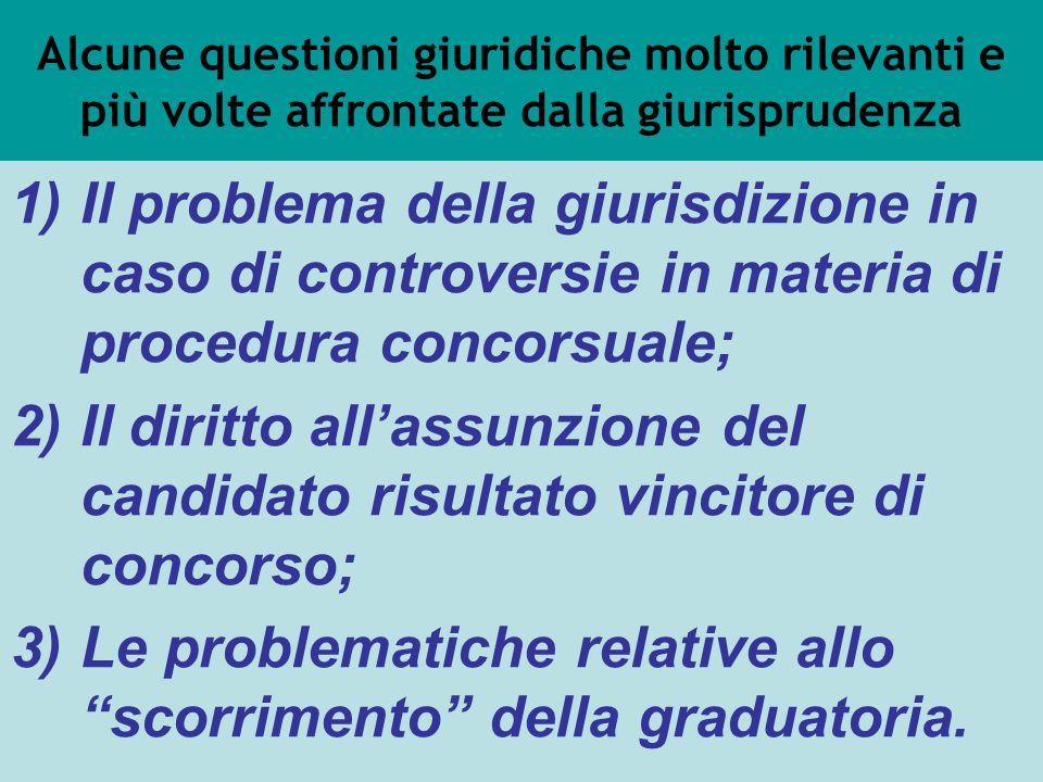 Alcune questioni giuridiche molto rilevanti e più volte affrontate dalla giurisprudenza 1)Il problema della giurisdizione in caso di controversie in m