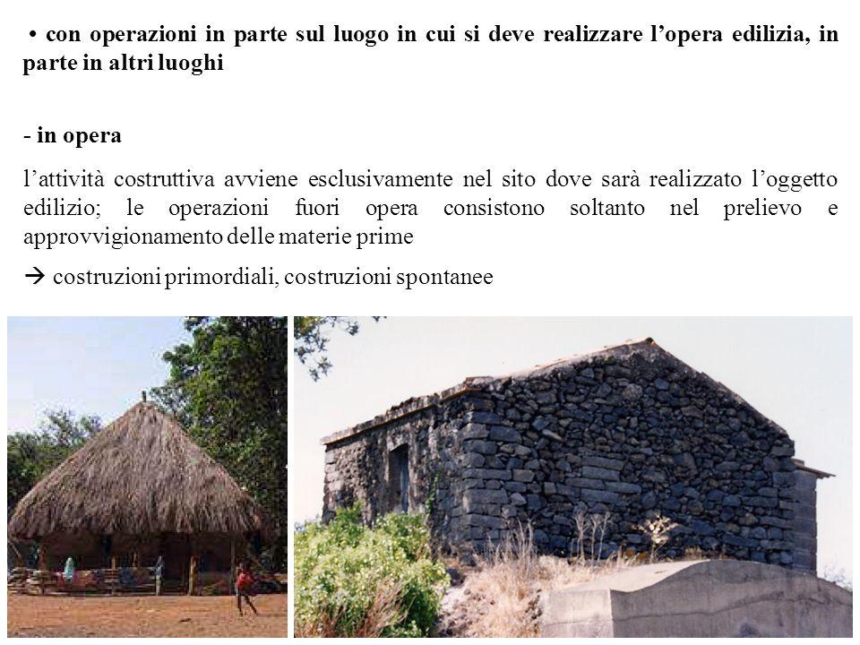 con operazioni in parte sul luogo in cui si deve realizzare lopera edilizia, in parte in altri luoghi - in opera lattività costruttiva avviene esclusi
