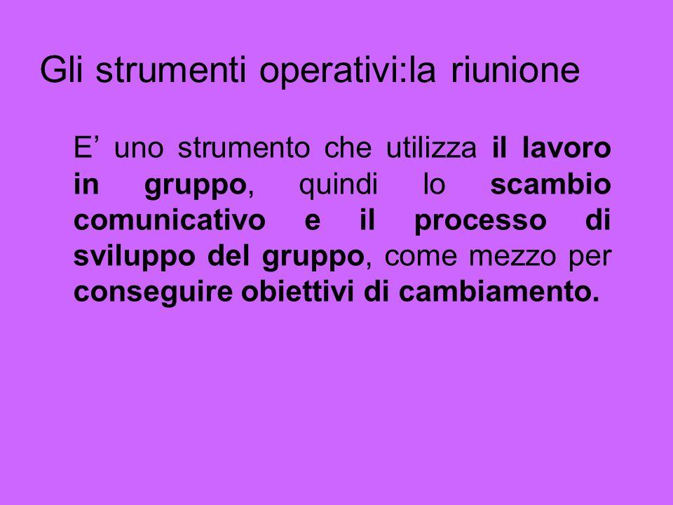 Lèquipe o gruppo di lavoro Il termine èquipe contiene al suo interno: -unidea di gruppo; -uno scopo comune; -unidea di organizzazione (i ruoli); -unidea di cooperazione; -uno spazio comune.