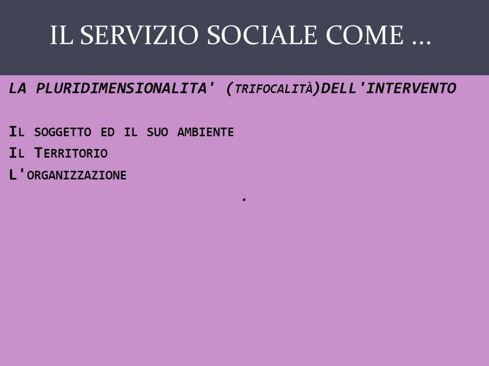 IL SERVIZIO SOCIALE COME...SCIENZA M.