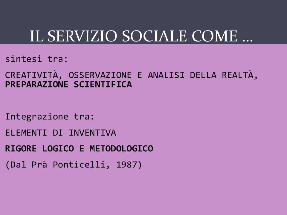IL SERVIZIO SOCIALE COME...