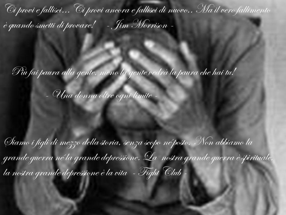 Coloro che sognano ad occhi aperti sanno molte cose che sfuggono a quelli che sognano solo di notte - Edgar Allan Poe - Avere un posto nel cuore degli altri vuol dire non essere solo - Jim Morrison - I sogni si avverano se hai il coraggio di crederci..