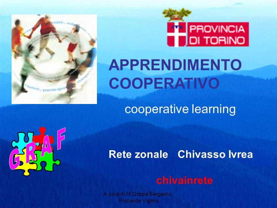 A cura di M.Grazia Bergamo, Riccarda Viglino APPRENDIMENTO COOPERATIVO Rete zonale Chivasso Ivrea chivainrete cooperative learning