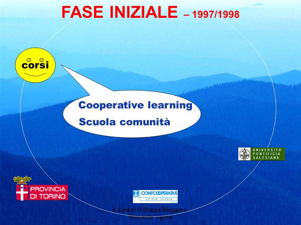 A cura di M.Grazia Bergamo, Riccarda Viglino corsi FASE INIZIALE – 1997/1998 Cooperative learning Scuola comunità
