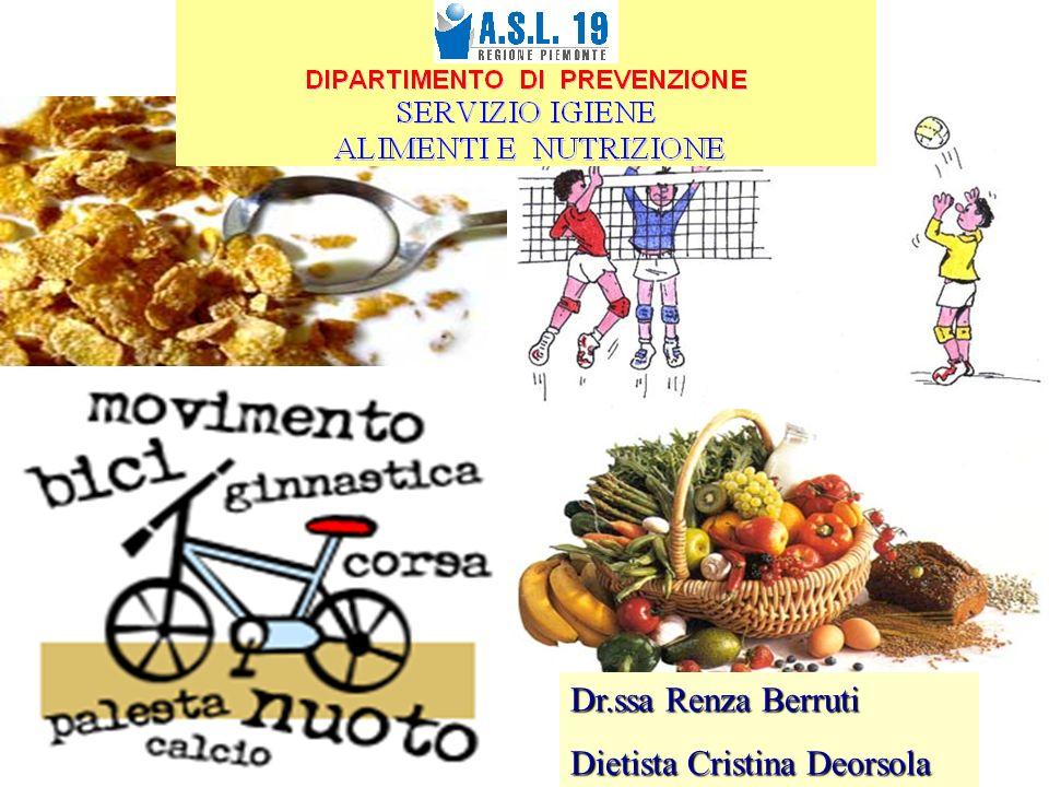 1 Dr.ssa Renza Berruti Dietista Cristina Deorsola