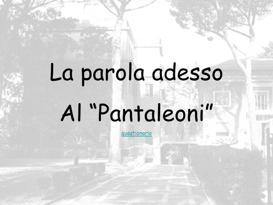 La parola adesso Al Pantaleoni questionario