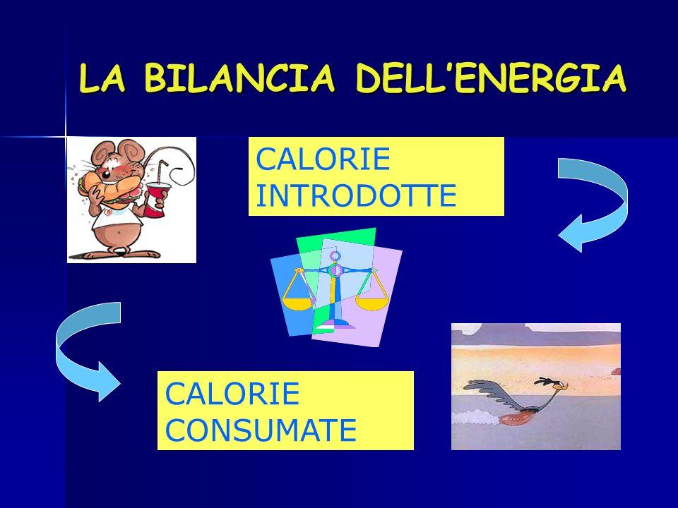 LA BILANCIA DELLENERGIA CALORIE INTRODOTTE CALORIE CONSUMATE