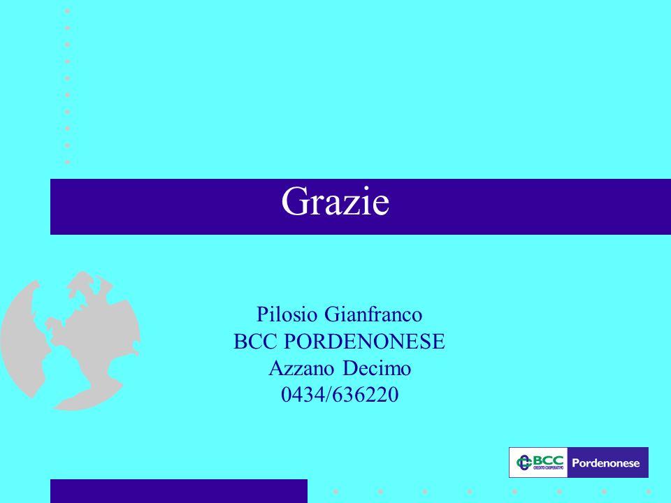 Grazie Pilosio Gianfranco BCC PORDENONESE Azzano Decimo 0434/636220