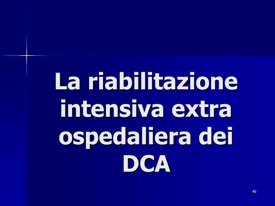 45 La riabilitazione intensiva extra ospedaliera dei DCA