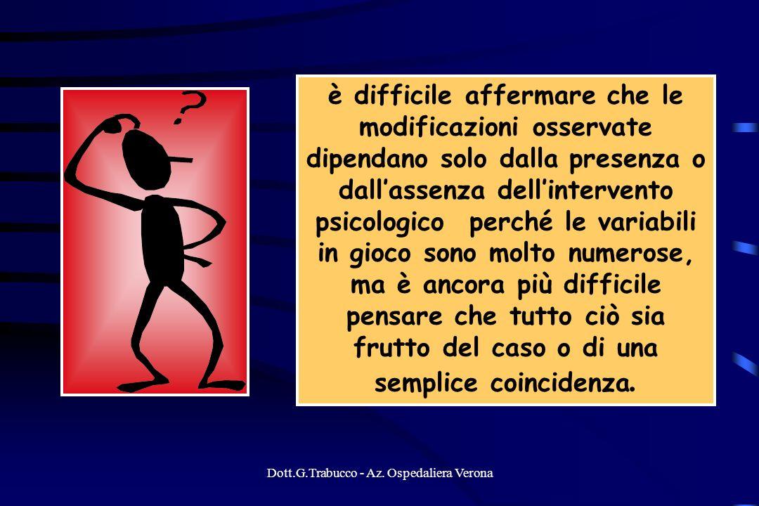 Dott.G.Trabucco - Az. Ospedaliera Verona è difficile affermare che le modificazioni osservate dipendano solo dalla presenza o dallassenza dellinterven