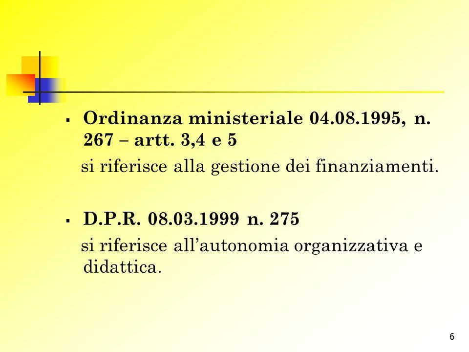 7 C.m.28.07.1997 n. 454 riassume gli aspetti più significativi del funzionamento strutturale.