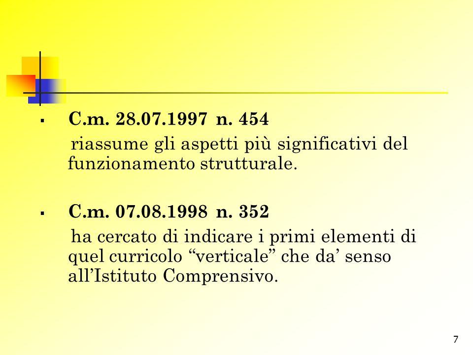 8 Documento tecnico allegato alla c.m.30.09.1999 n.