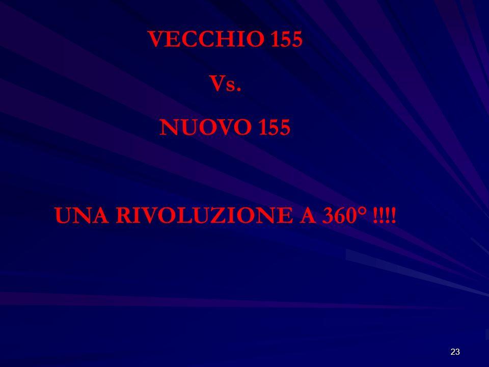 23 VECCHIO 155 Vs. NUOVO 155 UNA RIVOLUZIONE A 360° !!!!