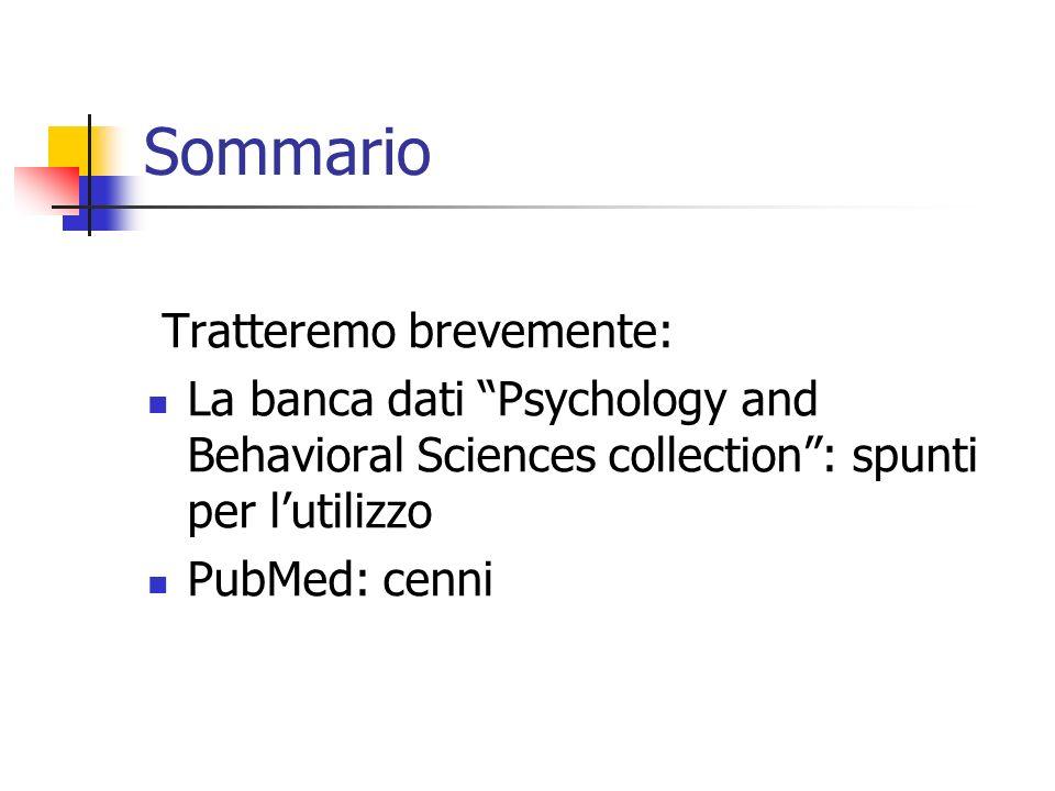 PubMed: database bibliografico di carattere biomedico della National Library of Medicine (USA).