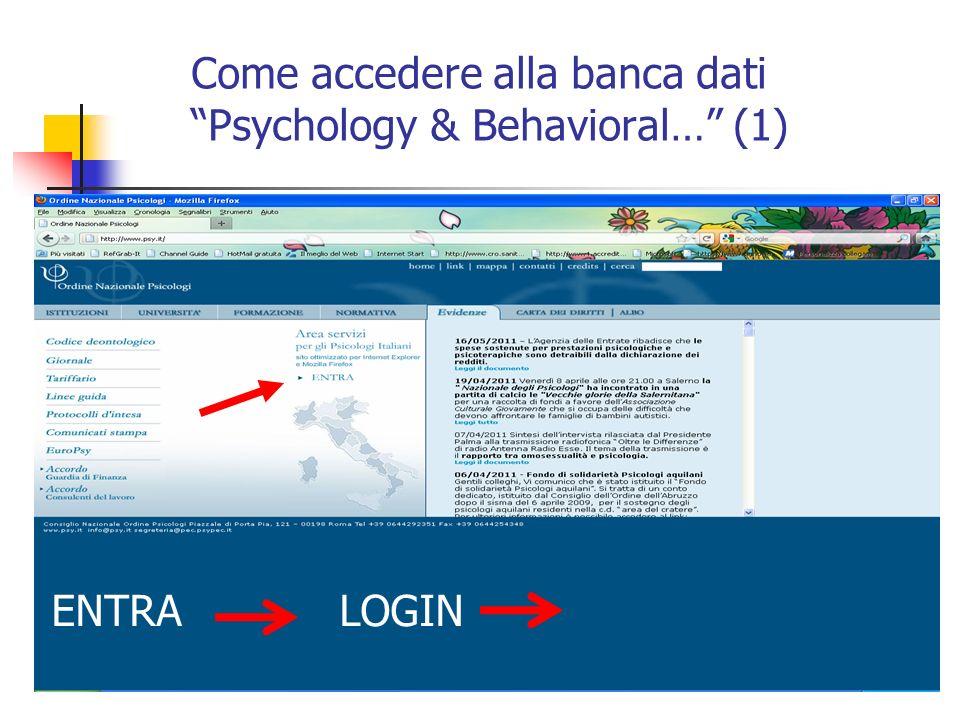 Come accedere…: inserisco i miei dati (2)