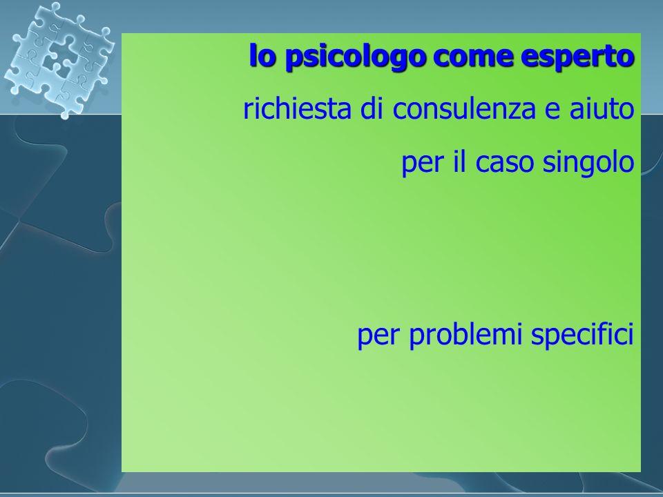 lo psicologo come esperto richiesta di consulenza e aiuto per il caso singolo per problemi specifici