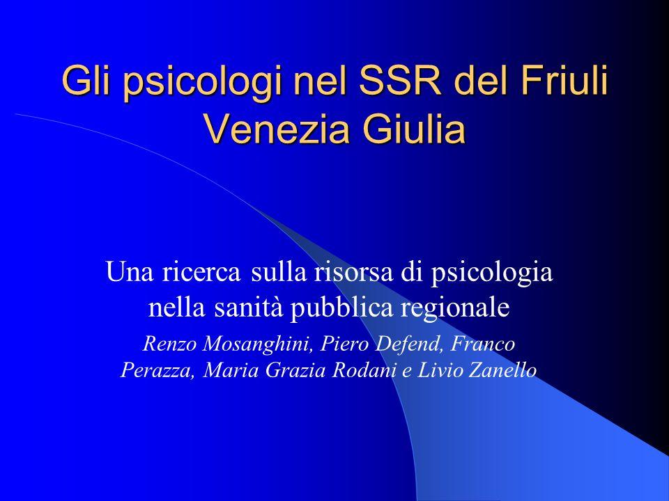 Contesto di riferimento Osservazioni al PIMT 2000-2002 Rapporti e collaborazioni tra lOrdine degli Psicologi e le istituzioni regionali Istituzione di un tavolo tecnico di collaborazione con lA.R.S.