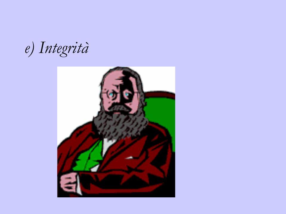 e) Integrità