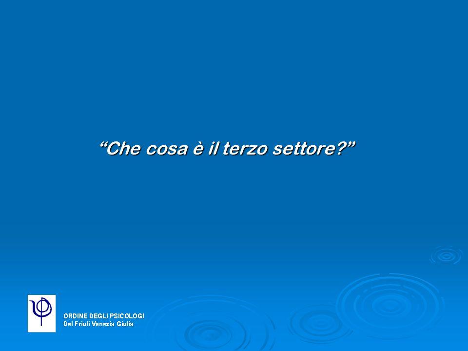 In Italia… Dal 1995 al 2003 le associazioni di volontariato sono aumentate del 152% passando da 8343 a 21021 unità
