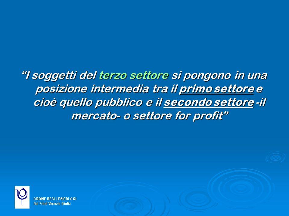 In Italia… 7363 sono le cooperative sociali di queste più del 70% sono nate dopo il 1991.