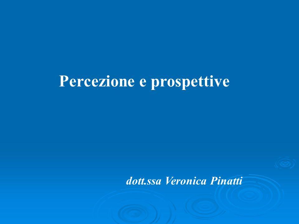 Percezione e prospettive dott.ssa Veronica Pinatti