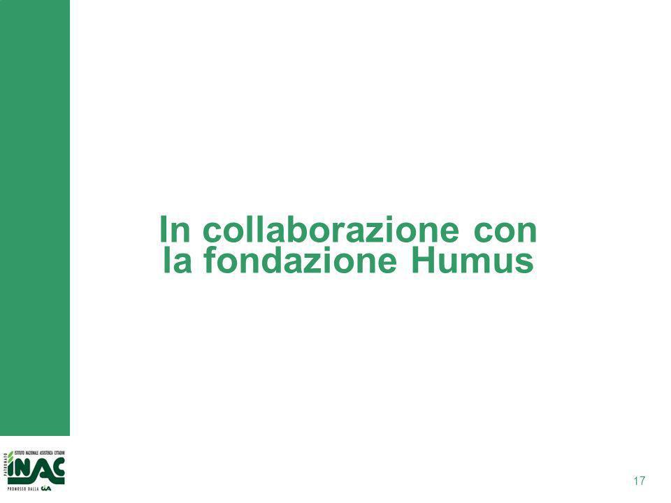 In collaborazione con la fondazione Humus 17