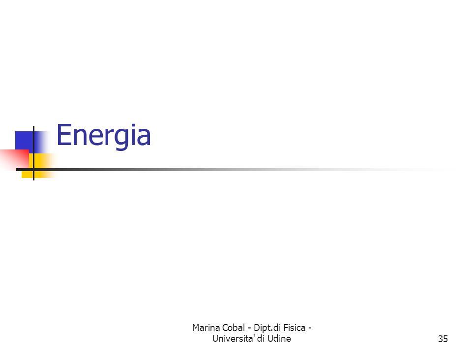 Marina Cobal - Dipt.di Fisica - Universita' di Udine35 Energia