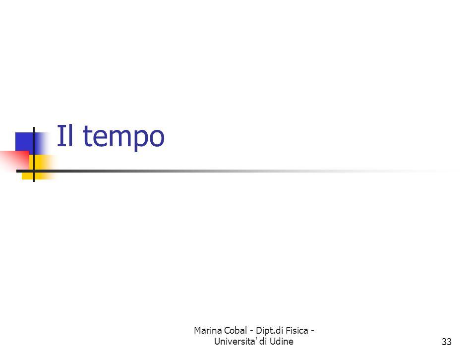 Marina Cobal - Dipt.di Fisica - Universita' di Udine33 Il tempo