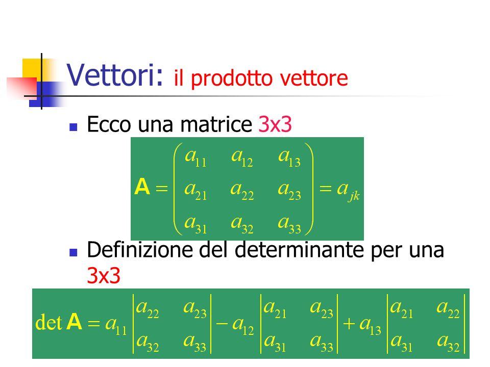 Marina Cobal - Dipt.di Fisica - Universita' di Udine4 Vettori: il prodotto vettore Ecco una matrice 3x3 Definizione del determinante per una 3x3