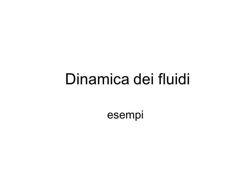 Dinamica dei fluidi esempi