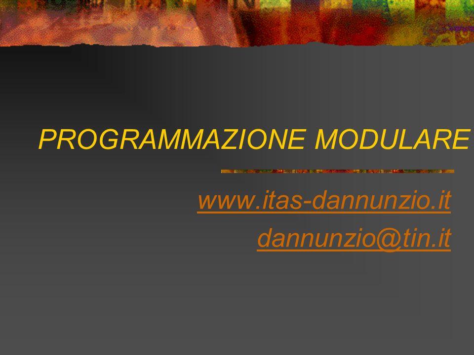 PROGRAMMAZIONE MODULARE www.itas-dannunzio.it dannunzio@tin.it